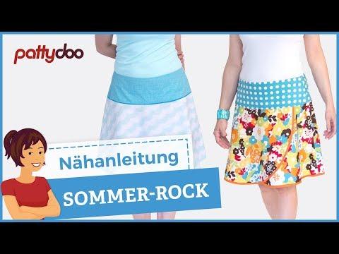 Rock selber nähen – Anleitung; pattydoo tutorial # 9