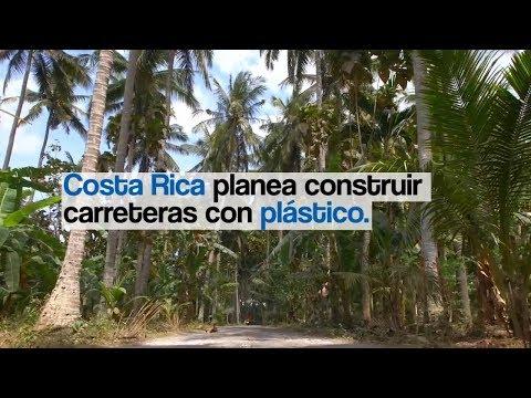 Costa Rica planea construir carreteras con plástico