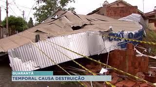 Temporal causa estragos em Guarantã