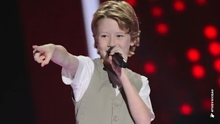 Ky hit the right notes with his energetic performance of The Jackson 5's dance number. Go to www.thevoicekids.com.au for more ...