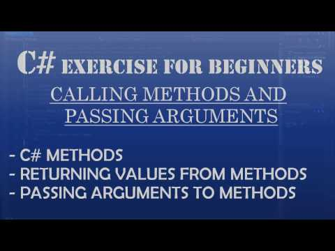 C# How To Program: C# Methods: Calling methods & passing arguments to methods