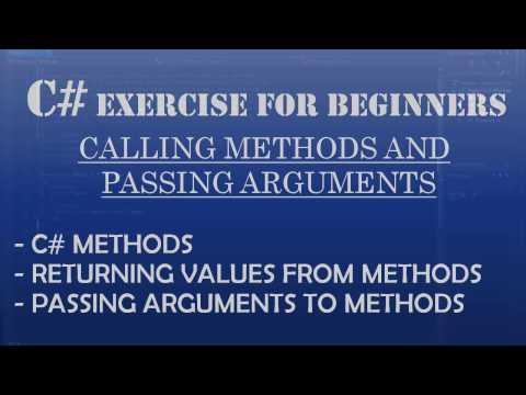 C# How To Program: C# Methods: Calling methods & passing arguments to methods