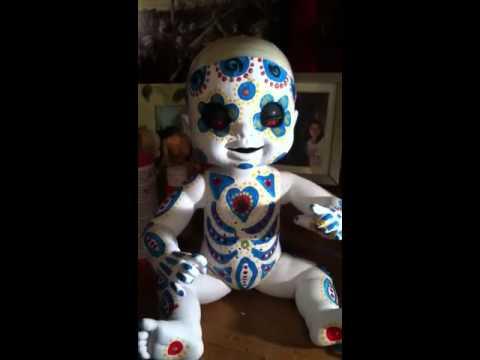 Dia de Los muertos talking doll