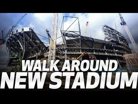 Video: WALK AROUND SPURS NEW STADIUM!