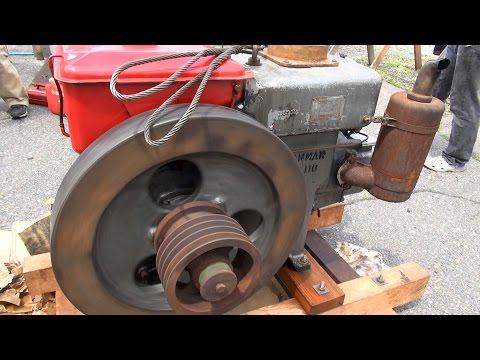 Old Engines in Japan 1950s YANMAR Diesel Type NT110 13hp Part 1