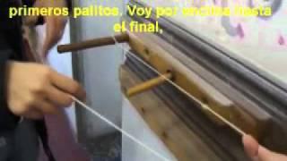 1 - armado de la urdimbre para telar de lizos 1