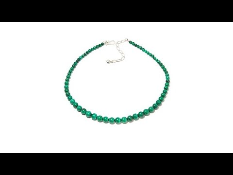 Jay King Malachite Bead Sterling Silver 18