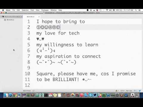 Square CodeCamp 2015: Why You Should Have Me