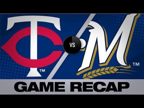 Video: Grisham's 3-run home run lifts Brewers | Twins-Brewers Game Highlights 8/14/19