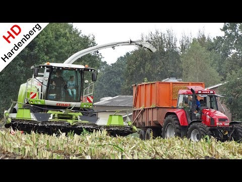 Mais hakselen 2018 - Claas Jaguar 940 + Arion 540 + Case IH CS 110 - Van Geresteijn B.V. - Stroe.