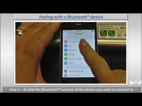 Pairing your Panasonic Bluetooth® Speaker to a Bluetooth® Device -  Panasonic  SC-NA10 and SC-NA30