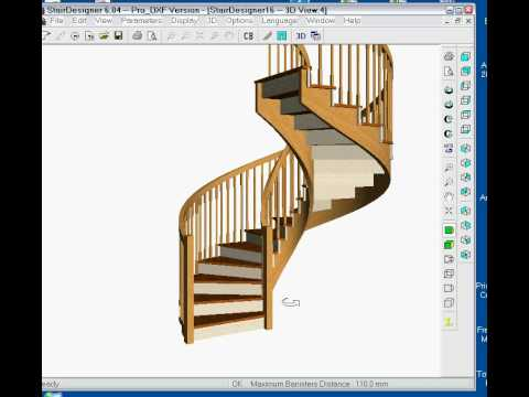 Using stair software to build a spiral staircase | Wood Designer Ltd