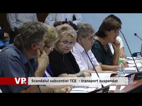 Scandalul subvenției TCE, transport suspendat