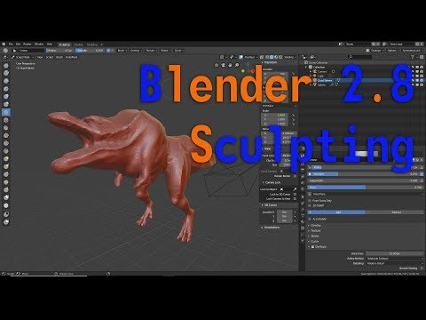 Trying Sculpting In 2.8