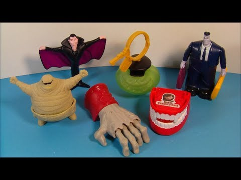 2012 HOTEL TRANSYLVANIA SET OF 6 McDONALD'S HAPPY MEAL MOVIE TOY'S VIDEO REVIEW
