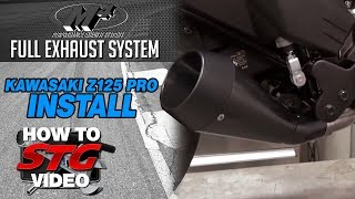 7. M4 Full Exhaust System Install on a 2017 Kawasaki Z125 Pro from Sportbiketrackgear.com