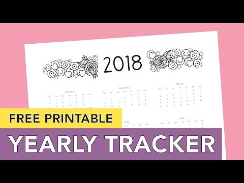 Free Printable Calendar 2018 + Multiple Uses and Yearly Tracker