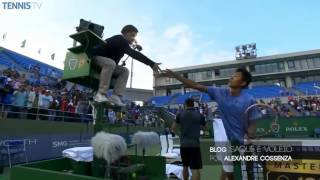 Tennis Highlights, Video - Fabio Fognini gives Shanghai crowd the finger