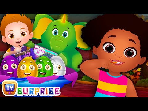 Brush Your Teeth | Good Habits Surprise Eggs Nursery Rhymes Toys | ChuChu TV Egg Surprise