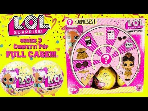 LOL SURPRISE Series 3 Confetti Pop FULL CASE