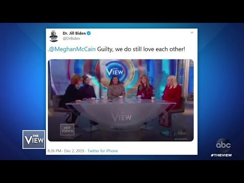 Jill Biden Responds to Husband Joe Biden Nibbling Fingers | The View