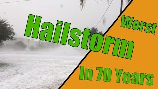 Killarney (Queensland) Australia  city photo : Hailstorm hitting Killarney