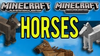 Minecraft PS4 and Xbox One - HORSES - NEWS!