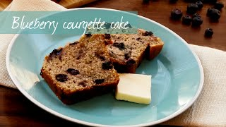 Courgette cake with blueberries