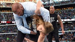 The Rock & Ronda Rousey Destroy Triple H & Stephanie McMahon