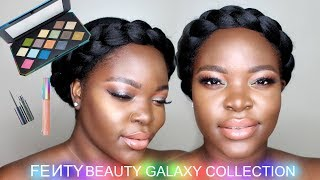 Fenty Beauty Galaxy Holiday Collection | First Impressions & Tutorial | Dark Skin | Le Beat