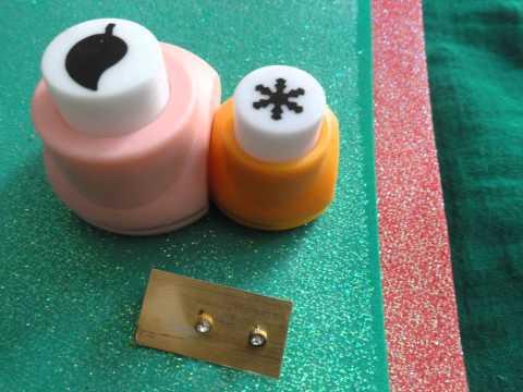 Earring made from foam sheet