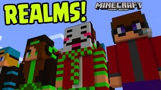 Minecraft Pocket Edition 1.0 REALM SMP SURVIVAL! // Minecraft PE REALMS (MCPE REALM 1.0 Update)