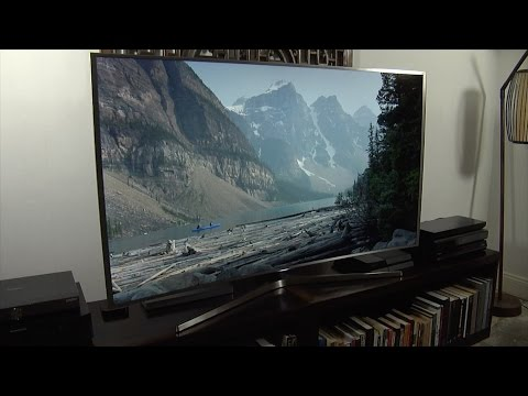 Samsung UE65JS9000 JS9000 4K SUHD 2015 TV Demo Review