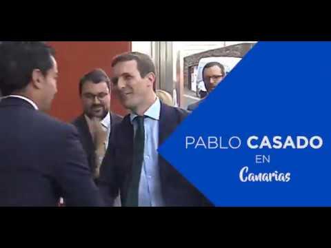 """Casado: """"Canarias debe ser la plataforma continental que una a Europa con América y el continente africano"""""""