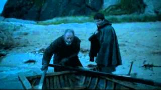 At night, Davos frees Gendry from the dungeons and gives him a boat to escape Dragonstone.