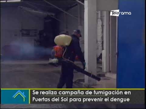Se realiza campaña de fumigación en Puertas del Sol para prevenir el dengue