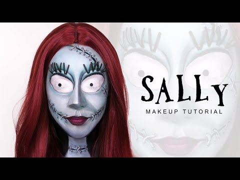 Sally - Nightmare Before Christmas Halloween Makeup Tutorial