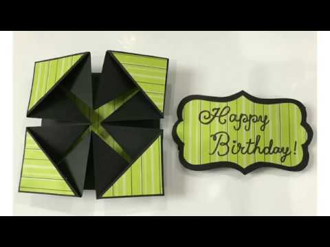 Birthday wishes for best friend - Tutorial on how to make a Simple Birthday card / DIY/ now Napkin fold card made easy for you/