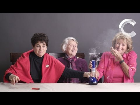Watch Grandmas smoking weed for the first time