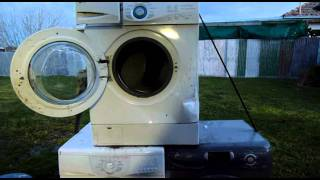 LG Washer Eating a 14 inch CRT