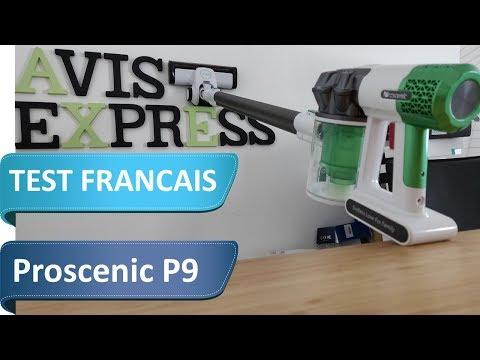 Test de l'aspirateur balai sans fil Proscenic P9