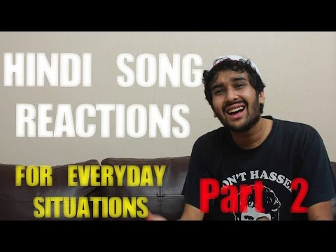 shahhindi - Don't you wish you could react with a Hindi song? That would be so cool right? Can you guess all the songs? I like Samosas. If you have any Hindi songs in mi...