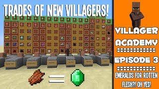 NEW Villager Trading Guide (1.8 Trades // Explanation&Tutorial) - #3 - Villager Academy
