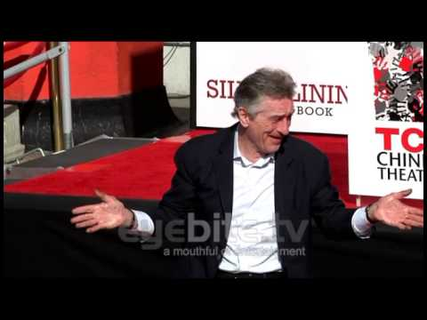 ROBERT DE NIRO Hand and Foot Print Ceremony at TCL Chinese Theatre