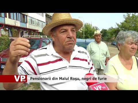 Pensionarii din Malu Roșu, negri de supărare