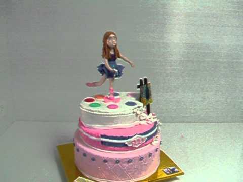 עוגת בר מצווה - עוגה מפוסלת מבצק סוכר, פיסול פנים ביד חופשית ע