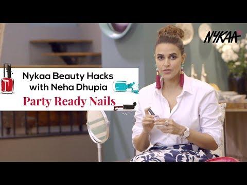 Gel nails - Nykaa Beauty Hacks with Neha Dhupia  - Party Ready Nails