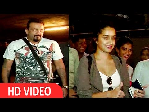 Sanjay Dutt & Shraddha Kapoor Spotted At Airport