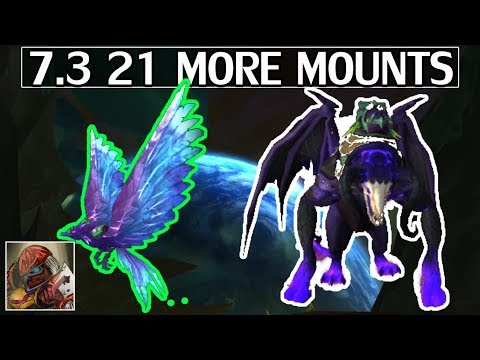 7.3 21 More Mounts - WoW Legion (видео)
