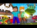 Minecraft Life Of Alex Amp Steve  Moving Into Our New House Together  Little Donny Roleplay
